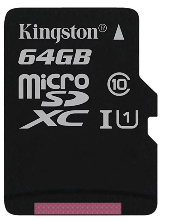 Флеш карта microSDXC 64Gb Class10 Kingston SDCS/64GBSP w/o adapter фото 1 — frontime