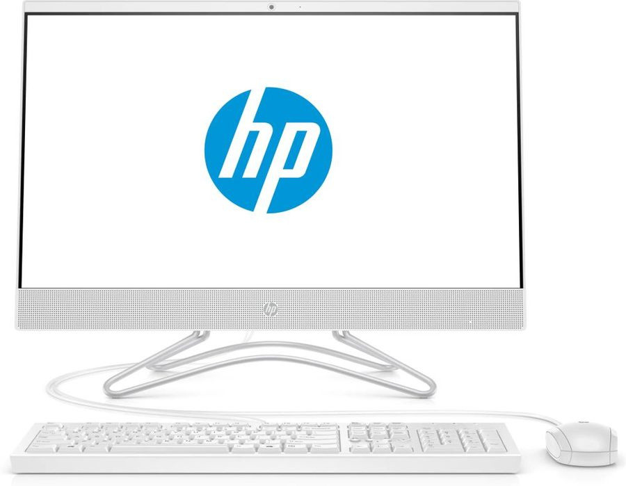 "Моноблок HP 24-f0109ur 23.8"" Full HD i3 8130U (2.2)/4Gb/1Tb 7.2k/UHDG 620/CR/Windows 10/GbitEth/WiFi/BT/65W/клавиатура/мышь/Cam/белый 1920x1080 фото 1 — frontime"