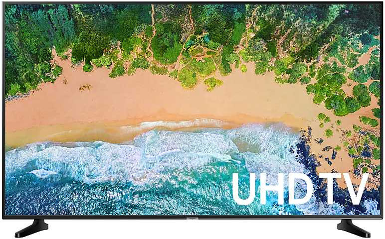 "Телевизор LED Samsung 43"" UE43NU7090UXRU 7 черный/Ultra HD/50Hz/DVB-T2/DVB-C/DVB-S2/USB/WiFi/Smart TV (RUS) фото 1 — frontime"