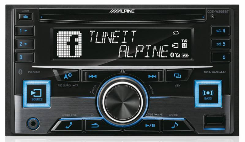 Автомагнитола CD Alpine CDE-W296BT 2DIN 4x50Вт фото 1 — FRONTIME.RU
